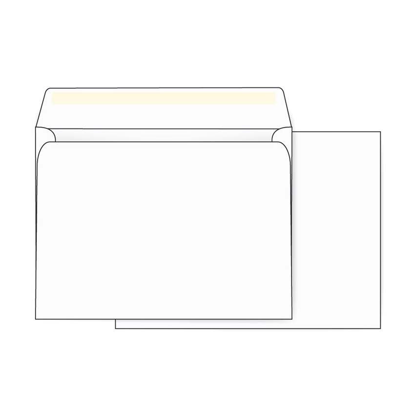 PRINTMASTER® Booklet 24 lb. White Wove OSSS Envelopes 5.75 x 8.875 in. 500 per Box