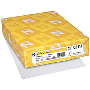 Neenah Paper® Classic Laid Whitestone 24 lb. Writing Paper 8.5x11 in. 500 Sheets per Ream