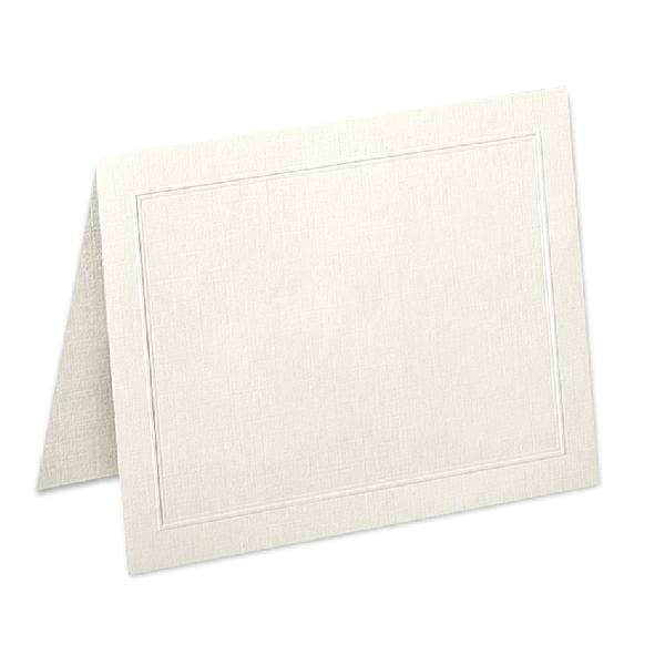 Neenah Paper® Classic Linen Classic Natural White 80 lb. Cover A2 Folded Panel Cards