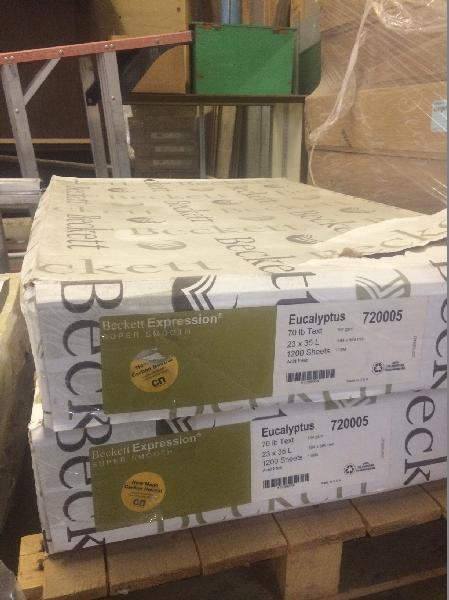 Beckett Expression Eucalyptus Super Smooth 70 lb Text 23x35 - 1200 SHEETS PER CARTON | SKU 720005