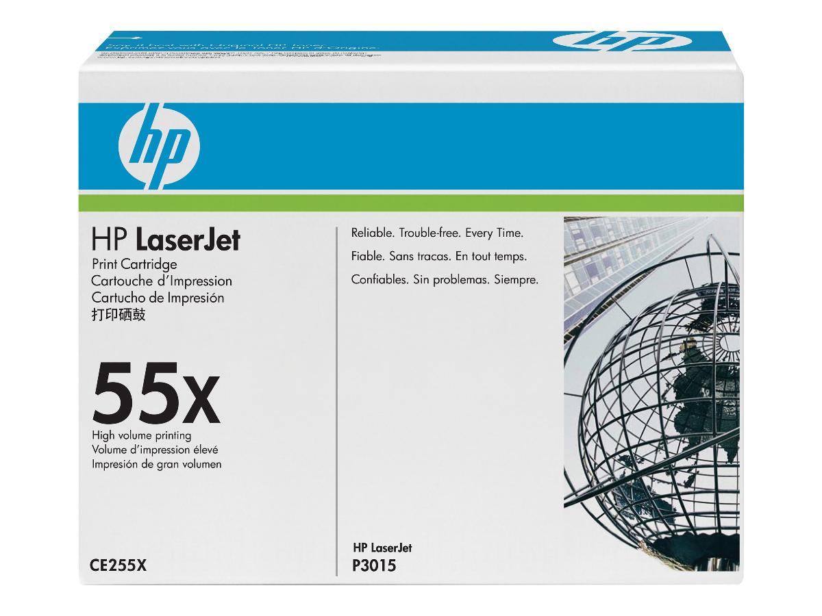 HP LaserJet 55X High Volume Original Toner Print Cartridge Black CE255X - Save up to 25% with a high capacity toner vs standard