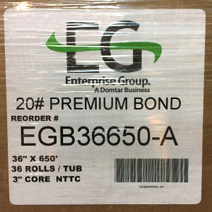 Domtar® EG Premium White Bond 20# Engineering Plotter Paper  3