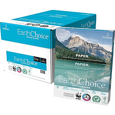 Domtar® EarthChoice White 24 lb. Bond Office Paper 8.5x11 in. 500 Sheets/Ream