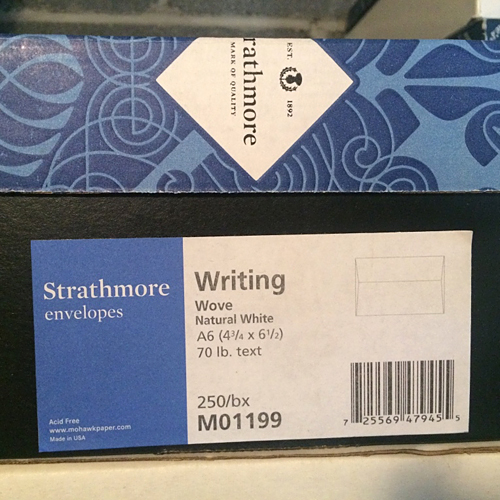 Mohawk® Strathmore Writing Natural White Wove 70 lb. Text A6 Envelope | 250/Box - Sku: M01199 | 250 PER BOX
