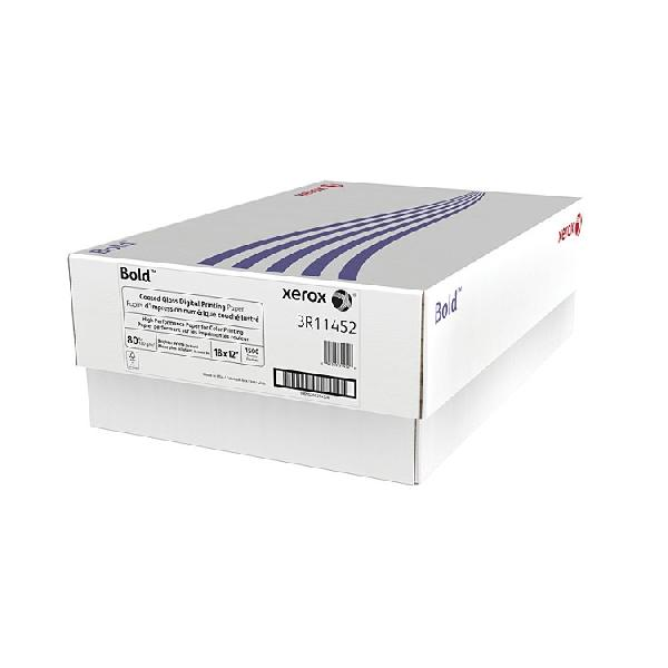 Xerox® Bold White Gloss Coated 80 lb. Text Digital Printing Paper 18x12 in. 500/Ream - Sku: 3R11452 | 500 SHEETS PER REAM