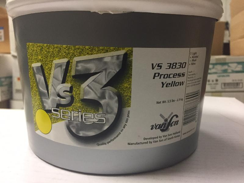 VanSon VS3 Process Yellow Soy Based Offset Ink - VS3530 Process Yellow