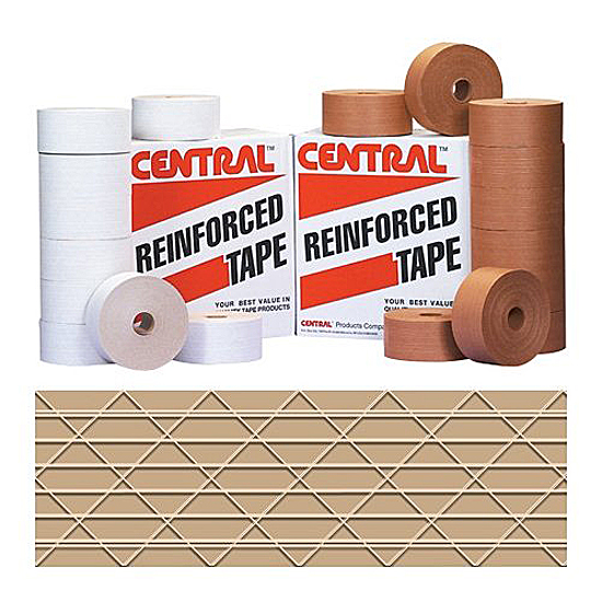 IPG Central® 240 Reinforced Kraft Water Activated Tape 72mm x 450' Roll 1/Roll - SOLD BY THE ROLL | 10 ROLL CASE DISCOUNT