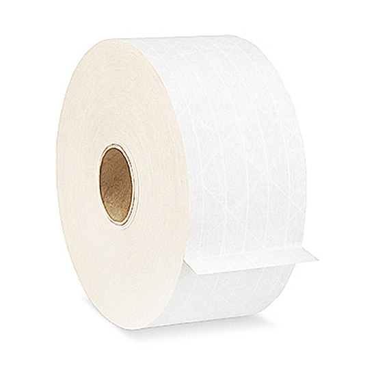 IPG Central® 240 Reinforced White Water Activated Tape 72mm x 450' Roll 1/Roll - SOLD BY THE ROLL | 10 ROLLS PER CASE
