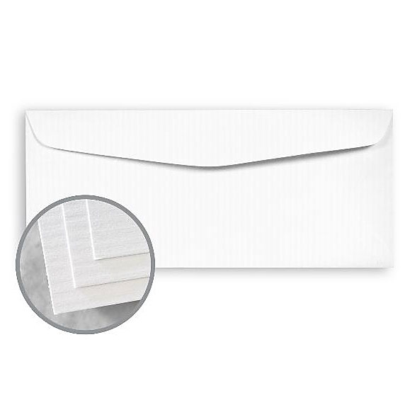 Neenah Classic Columns Solar White Lineal 24 lb. Regular No. 10 Envelope - 500 PER BOX | SKU 9480200