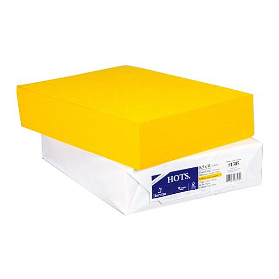 Domtar® Earthchoice® HOTS Sun Yellow Vellum 60 lb. Text 8.5x11 in. 500 Sheets/Ream - Sku: 81305 | 500 SHEETS PER REAM