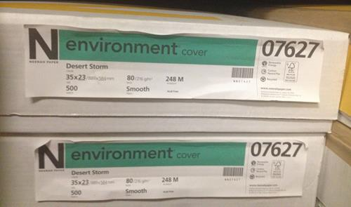 Neenah Environment Desert Storm Smooth 80 lb. Cover 35x23 - SKU 07627 | 75 SHEETS AVAILABLE