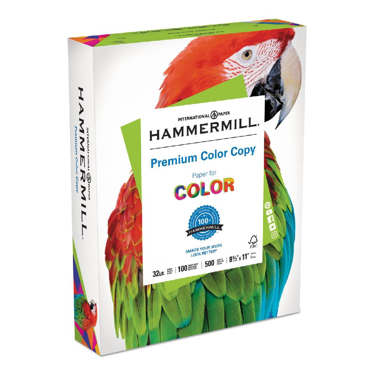 Hammermill® Premium Color Copy Paper 32 lb. 8.5x11 in. 500 Sheets per Ream