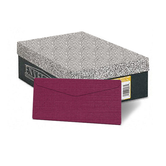 Neenah Paper® Classic Linen Cranberry Ice 24 lb. Writing Monarch Envelopes 500/Box