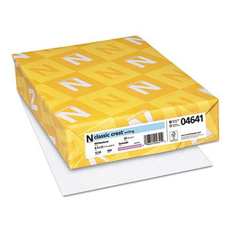 Neenah Paper® Classic Crest Whitestone Smooth 24 lb. Writing 8.5x11 in. 500 Sheets