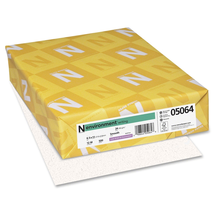 Neenah Paper® Environment MOONROCK Linen 24 lb. Writing 8.5x11 in. 500 Sheets per Ream - Sku: 06811 | 500 SHEETS PER REAM