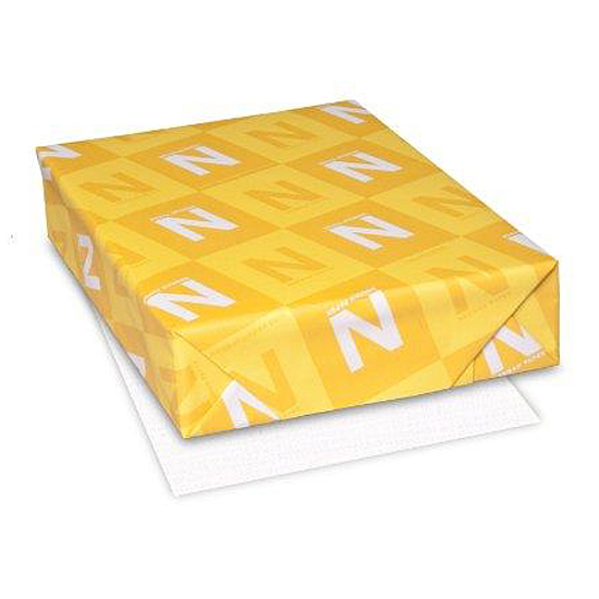 Neenah Paper® Royal Sundance Brilliant White Linen 24 lb. Writing 8.5x11 in. 500/Ream - Sku: 75101 | 500 SHEETS PER REAM
