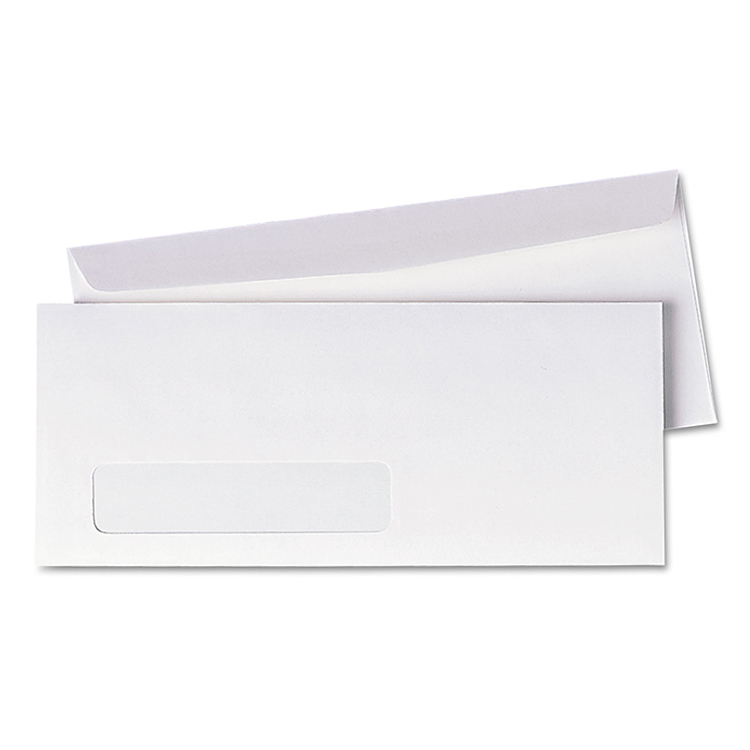 Neenah Paper® Environment Ultra Bright White Smooth 80 lb. #10 Poly Window Envelopes - No. 10 (4.125 x 9.5) 500 BOX