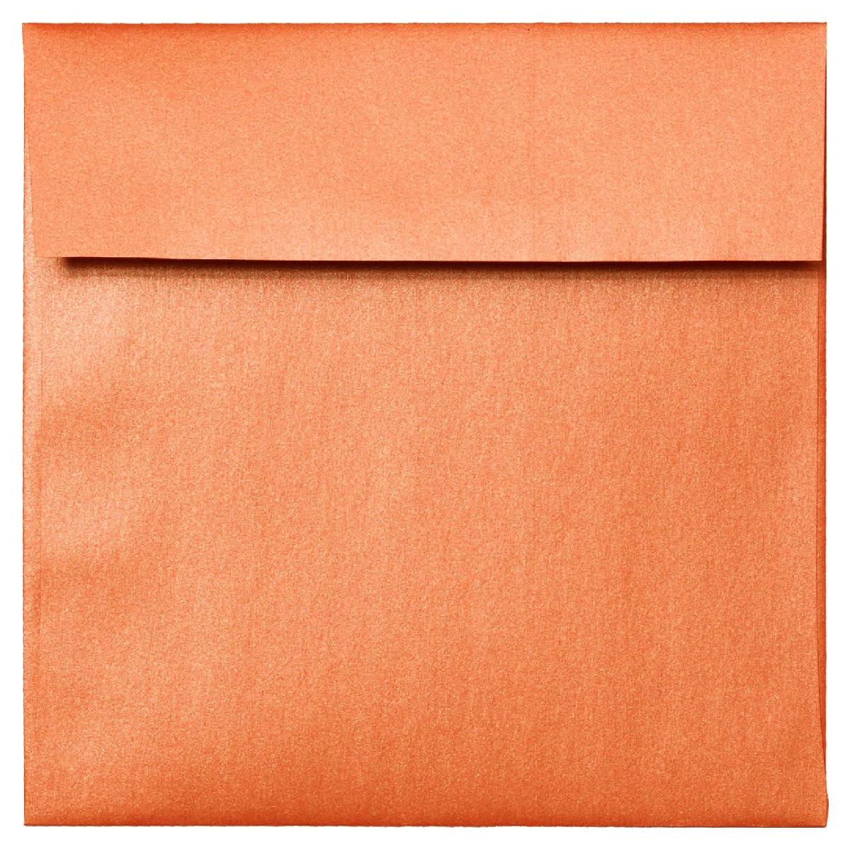 Stardream® Metallics FLAME Smooth 81 lb. Text 8.5 x 8.5 in. Square Envelopes 50 per Pack