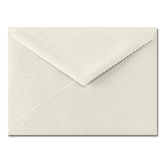 Leader Paper® Buttermilk Linen 70 lb. 4 Bar Baronial Envelopes 3.625 x 5.125 in. 250 per Box