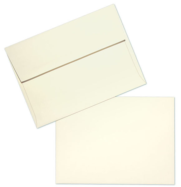 Cougar Natural Vellum Natural White Text A-7 Envelopes - 250 PER BOX | SKU 58267