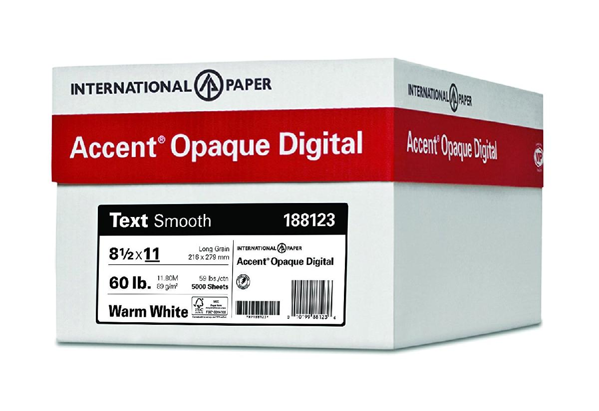 Accent® Opaque Digital White Smooth 120 lb. Cover 8.5x11 in