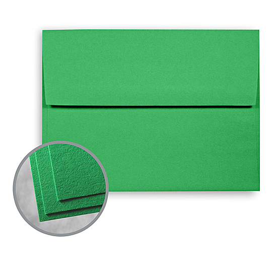 Wausau Papers® Astrobrights Gamma Green 60 lb. Text A-10 Announcement Envelopes 250
