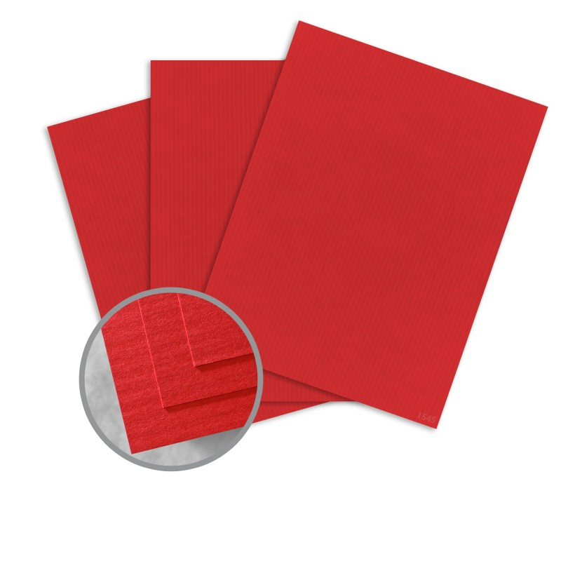 Neenah Paper Classic Columns Red Pepper Digital Lineal 30% Recycled 100# Cover 18x12 in. 125 Sheets per Ream