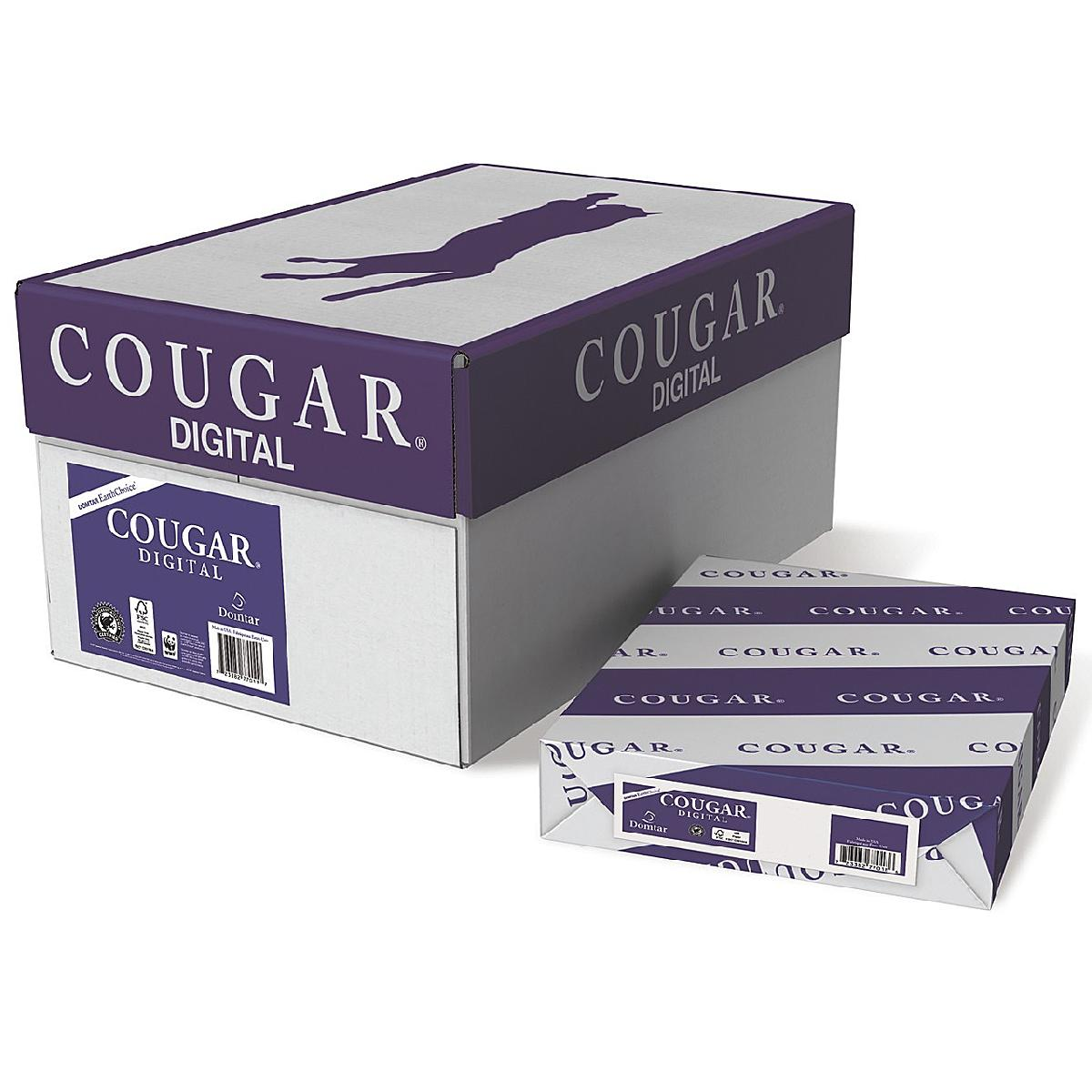 Domtar® Cougar Digital White Smooth 80 lb. Text 8.5x11 in. 250 Sheets per Ream - Sku: 2224 | 250 SHEETS PER REAM