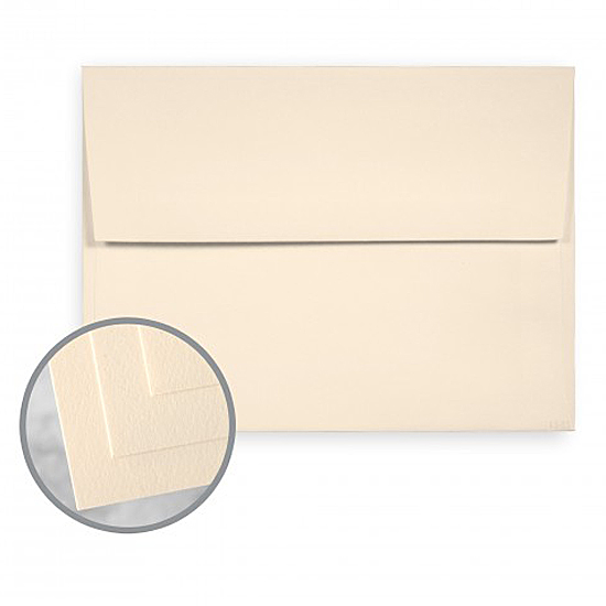 Mohawk® Tomahawk Cream White Felt Textured 70 lb. Text A-8 Announcement Envelopes