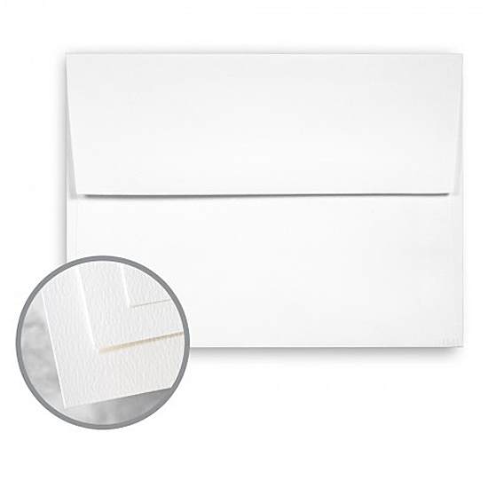 Fox River Paper Co® Sundance Bright White Felt 70 lb. Text - A-8 Recycled Announcement Envelopes 250 per Box