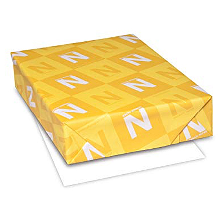Neenah® Laser Bright White 25% Cotton 20 lb. Writing 8.5x11 500/Ream - Sku: 05742 | 500 SHEETS PER REAM