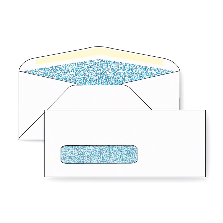 No. 10 Security Window Envelope 24 lb. White Wove Black Confetti Tint 500 per Box