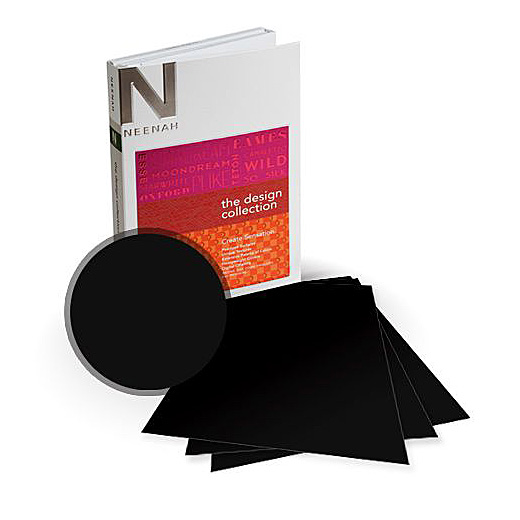 Grouppo® Cordenons® PLIKE Plastic-Like Soft-Touch Black 95 lb. Text 28x40 in. 125 Sheets