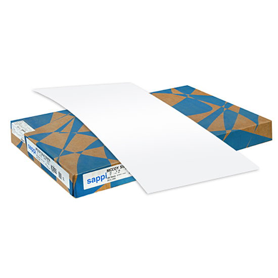 Sappi® McCoy White Matte Coated 100 lb. Cover 26x40 in. 400M 375 Sheets per Carton - Sku: K3740 | 375 SHEETS PER CARTON