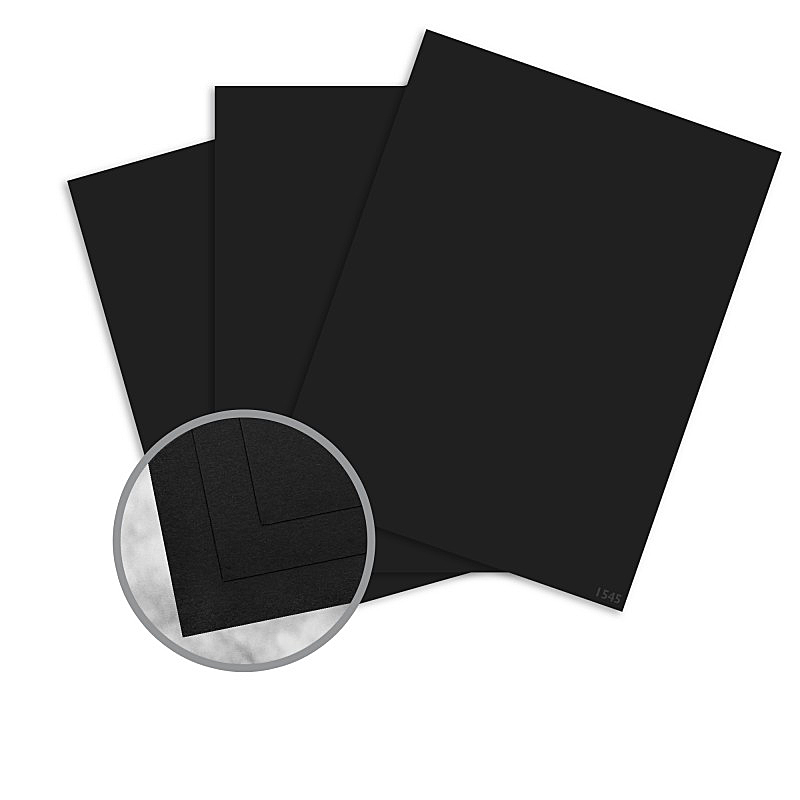 Strathmore® Premium Wove Midnight Black 25x38 in. 70 lb. Wove Text FSC 30% Recycled 1000 Sheets per Carton