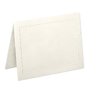 Neenah® Classic Natural White Linen 80 lb. A2 Folded Panel Card 250/Box - Sku: 84159 | 250 PER BOX