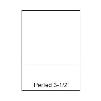 "Performance® PERFECT White 24 lb. Bond Laser Copy Paper 8.5x11 in. 3.5"" Horizontal Perf 500 Sheets per Ream - Horiz Perf 3-1/2"" from Bottom"