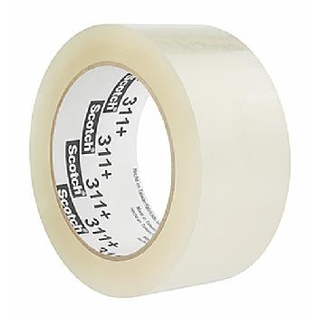 3M Scotch 311+ High Tack Box Sealing Tape 48 mm x 100 m Clear Polypropylene w-Acrylic Adhesive 36 Rolls per Case