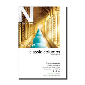 Neenah Paper Classic Columns Recycled Natural White 80 lb. Lineal Cover 320M 26x40 lb.