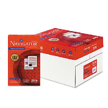 Navigator Premium White Multipurpose Smooth 20 lb. Copy Paper 8.5x14 in. 5000/CA