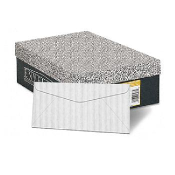 Neenah Paper Classic Columns Recycled Bright White 24 lb. Writing Lineal/Embossed No. 10 Envelopes 500/Box - Sku: 83097 | 500 ENVELOPES PER BOX