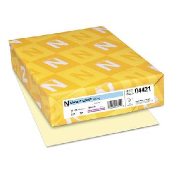 Neenah Paper® Classic Crest Classic Cream Smooth 80 lb. Cover 8.5x11 in. 250 Sheets