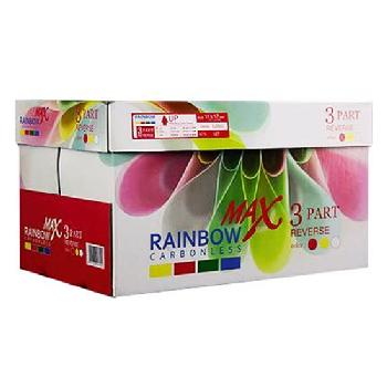 Rainbow Carbonless 3 Part Reverse Pre-Collated NCR Paper 8.5x11 in. 501 Sheets 167 Sets