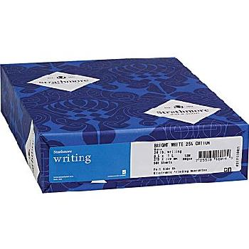 Strathmore® Writing Soft Gray Laid 25% Cotton 24 lb. Writing 8.5x11 in. 500/Ream - Sku: 315-263 | 500 SHEETS PER REAM