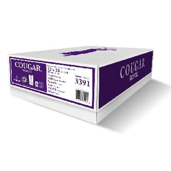 Domtar® Cougar Digital White 60 lb. Smooth Text 12x18 in. 1200 Sheets per Carton