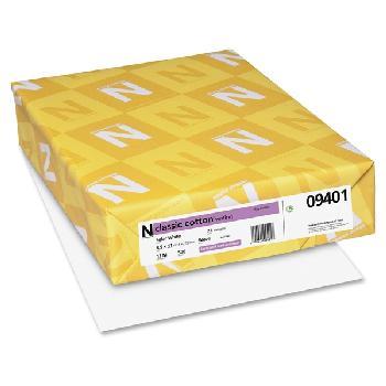 415dc85d0c7d6e Neenah Paper® Classic Cotton Solar White Smooth 24 lb. Writing 8.5x11 500