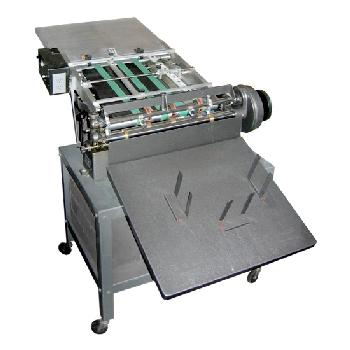 Rollem® Champion 990 Scoring Perforating Slitting Machine Vaccum Air Fed Turbo Feeder Registration Board and Stand - Min Sheet Size: 4 x 4 in. Max Sheet Size: 18 x 23 in.