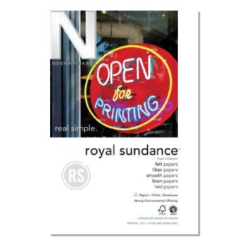 Neenah Paper® Royal Sundance Ultra White Smooth 80 lb. Cover 30% Recycled  26x40 in. 300/CA - Sku: 05778RC | 300 SHEETS PER CARTON
